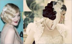 old hollywood updos | ... old-school Hollywood glamour look with feather fascinator and birdcage