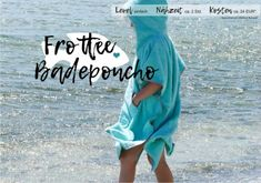 Frottee Badeponcho nähen! Surf Poncho, Sewing For Kids, Sewing Clothes, Sewing Patterns, Cover Up, One Shoulder, Beach, Presents, Diy