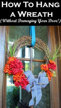 Less-Than-Perfect Life of Bliss: How to Hang a Wreath (Without Damaging Your Door)