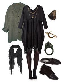 """""""Calliope"""" by willoz on Polyvore featuring mode, SPANX, Lady Grey, Zucca, Lulu Frost, Alicia Marilyn Designs, 3.1 Phillip Lim, AllSaints, black et dress"""
