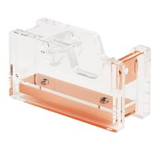 This acrylic tape dispenser with a touch of copper is perfect for adding a touch of everyday style to your desk. Matches with our copper desk accessories.
