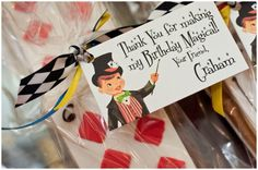 Super cute for P's treat bags for her Magic Birthday Party