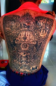 Traditional Sak Yant tattoos for Men and Women in Chiang Mai by a Sak Yant master monk Traditional Thai Tattoo, Protection Tattoo, Back Piece Tattoo, Sak Yant Tattoo, Bamboo Tattoo, Northern Thailand, Chiang Mai, Tattoo Inspiration, Tattoos For Guys