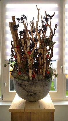 Herfst bloemstuk repinned by for Decoratie knutselen