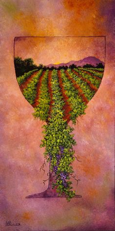 Linda Bones is one of three artists displaying her work at the Ledson Castle July 28-29. Great wine and art - what could be better?