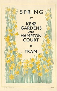 Spring at Kew Gardens and Hampton Court, by Freda Lingstrom, 1925 -