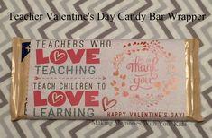 Teacher Valentine's Day Candy Bar Wrapper {Teacher Appreciation} with free printable