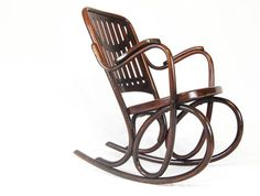 Latest Stock: RARE THONET BENTWOOD ROCKING CHAIR WITH ART NOUVEAU STYLING - MODEL No 71 - SOLD