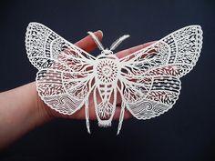 Nature's Flight Print of Original Papercut от SarahTrumbauer