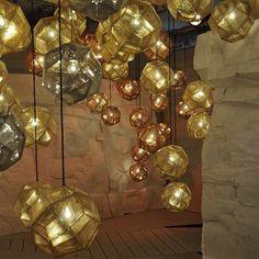 Lámpara colgante cobre moderna diseño | BOREAL