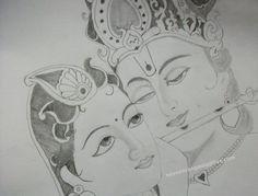 Radha Krishna Drawing Sketches And Paintings Krishna Drawing