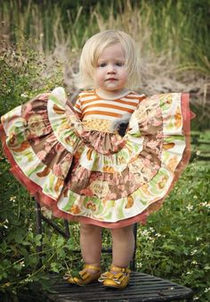 Fall Girls Dresses Girls Thanksgiving Dresses