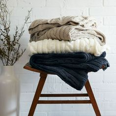 scarves on chair
