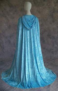 Amazon.com: Sky BLUE Velvet Cloak Cape Wedding Wicca Medieval LARP by Artemisia Designs: Clothing