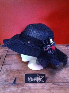 Check out this item in my Etsy shop https://www.etsy.com/listing/104588333/sexy-yet-cool-wide-brim-sunhat-black