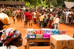 Waiting for a Shoe box distribution in Cameroon, West Africa- Operation Christmas Child