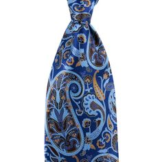 Add some interest to your outfit, in this ERMENEGILDO ZEGNA Blue Brown Paisley Extrafine 100% Silk Neck Tie!  |  Want your own? http://www.frieschskys.com/neckwear/ties  |  #instastyle #mensfashion #mensstyle #menswear #dapper #stylish #MadeInItaly #Italy #couture #highfashion