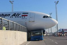 ALERT MahanAir A310 front gear collapsed at IST, no injuries reported.