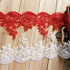 Perfect for bridal wear, wedding gown, wedding gloves, sleeves, wedding accessories, or bodice..... ❤ Measuring is about: 5.3 (13.5 cm) wide  ❤ Listing is for 2 Yards. ❤ It can be used for wedding dress, lingerie, bra, dresses, dolls, bridal veil, altered art, couture, costume, jewelry