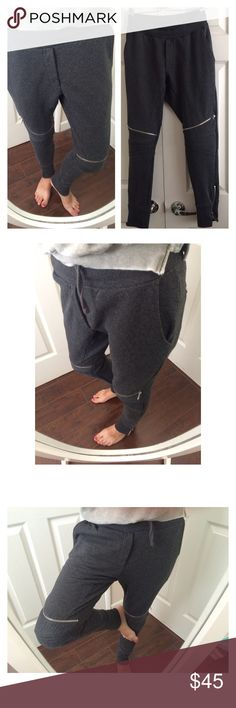 Zara Sweatpants Zip Ankle Soft sweatpants with zip ankle and zip at knee. Two front side pockets and two back pockets. It's actually Men size M but it's perfect for a women's size Small. Hidden drawstring. Like new. Zara Pants Track Pants & Joggers