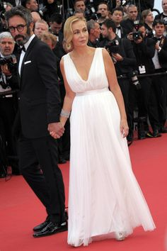chopardredcarpet:  French actress Emmanuelle Beart wore one white diamond earring set in 18-karat white gold and a white diamond bracelet (78 carats) set in 18-karat white gold.