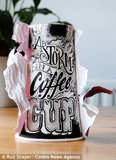 Artist Rob Draper uses paper coffee cups for stunning creations | Mail Online