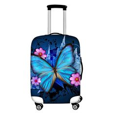 Rose Gold Senior Purple Travel Luggage Protector Case Suitcase Protector For Man/&Woman Fits 18-32 Inch Luggage