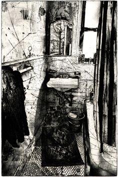 Saatchi Online Artist: Michael Goro; Copper Etching Plate, 1999, Printmaking Mirror