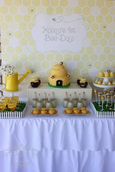 Bee themed party use for a what will it bee gender reveal