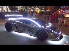 EPIC MODIFIED CUSTOM SUPERCARS Making A Real Disco Show In The Middle Of Tokyo…