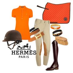 """""""Hermes Inspired"""" by high-standards ❤ liked on Polyvore featuring Hermès, Ralph Lauren Blue Label, TBA, women's clothing, women's fashion, women, female, woman, misses and juniors"""