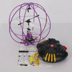 Tricyclic 6041 3Channel Mini Infrared Remote Control Fly Ball RC Helicopter Purple by Crazy Cart. $39.99. Features: 1. It is very easy to control 2. A fantastic gift for your kid 3. It will bring your kid lots of fun 4. Beautiful and classic toy 5. It will be a good companion of your kid 6. It will give your kid unforgettable memory on special days 7. 360 rotation and built-in gyroscope  Specifications: 1. Radio Control battery: 6 x 1.5V AA Battery?not included) 2. Contro...