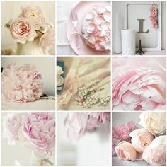 Pretty in Pink Such a pretty collage .soft and Lovely collection of florals Peony Bouquet Wedding, Peonies Bouquet, Bride Bouquets, Pink Peonies, Pink Roses, Wedding Flowers, Purple Bouquets, Flower Bouquets, Pink Flowers