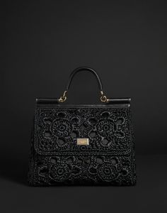 Discover clothing, shoes, bags and accessories designed by Dolce&Gabbana: the new collection with its unmistakable style is online. Beautiful Bags, Black Is Beautiful, My Bags, Purses And Bags, Shades Of Black, Back To Black, Evening Bags, Fashion Bags, Fashion Plates
