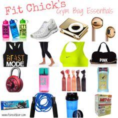 Gym Bag Essentials via Fit Chick Nextdoor!