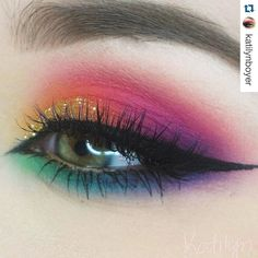 Inspiration week! Rainbow bright inspo from the talented @katilynboyer xx || http://ift.tt/1RKEp9j || IG: @shannonhall_MUA || FB: /shannonhallMUA || #MUA #MUAlife #makeup #makeupartist #proMUA #creativity #cosmetics #editorial #beauty #beautiful #instamakeup #cosmetic #cosmetics #fashion #inspiration || #Repost from @katilynboyer: Easter makeup Eyes: @morphebrushes 12P and 35B palette And Slate gel liner . @houseoflashes Boudoir lashes . @bhcosmetics glitter in Gold . @anastasiabeverlyhills…