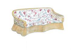 The Soane Britain Rattan Lily Sofa Sofa Furniture, Furniture Making, Circular Table, Designs To Draw, Rattan, Weaving, Lily, Glamour, Chic