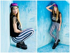 ★ LOOK OF THE DAY 12-10-2013 ★   · Musculosa Skull  · Calzas Rayadas  · Hollywood Black Boots  -----------------------------------------------------------  · Skull Black Tee  · Striped Leggings  · Hollywood Black Boots