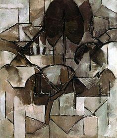 Piet Mondrian (1872-1944) - Landscape with Trees, 1911-1912. Gemeentemuseum, the Hague, Netherlands.