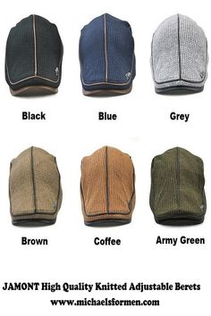127b6137bd7 JAMONT High Quality Knitted Beret for Men Adjustable. Mens Dress Hats ...