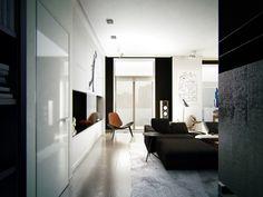 Masculine Apartment Ideas: Contemporary Art by KO KO Architects Masculine Apartment, Masculine Living Rooms, Minimalist Interior, Modern Minimalist, Contemporary Apartment, Contemporary Art, Apartment Design, Apartment Ideas, Luxury Interior