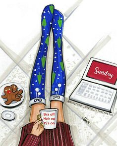 Today is a day for some hot cocoa, gingerman cookies and Netflix!😍 what is your Sunday plan?🎉🌲☕️ @netflix @copicmarker #netflix #copic #gingerman #hotcocoa #starbucks #christmas #holiday #lazysunday #cozysocks #christmaspjs #streetstyle #fashion #copicart #art #sketch #illustration #abmholidayspirit