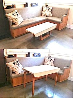 A Coffee Table you can Transform into a Dining Table | Tiny House Pins