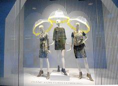 """Diane Von Furstenberg at Nordstrom ,Seattle WA,""""what a great idea Vanessa.... umbrella-hats"""", pinned by Ton van der Veer"""