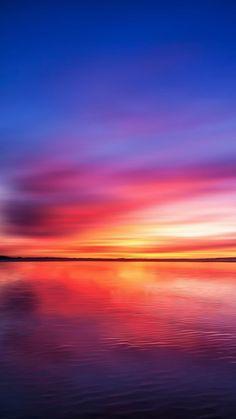 Burning Lake Sky Reflection #iPhone #7 #wallpaper