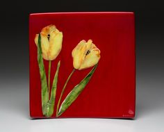 Tulips in fused glass by Joann Wellner - Artists | Sequoia Gallery + Studios, Hillsboro, Oregon - Gorgeous