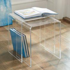 Chamonix Acrylic Nesting Table, Set Of Two - Grandin Road - Fully Assembled Acrylic Furniture, Art Deco Furniture, Furniture Deals, Furniture Outlet, Outdoor Furniture, Pvc Furniture, Furniture Websites, Discount Furniture, Furniture Design