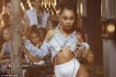 Did someone take some scissors to that? Leigh-Anne wore a very skimpy denim jacket which l...