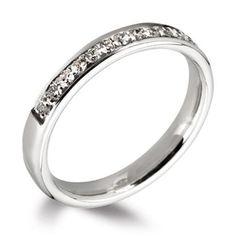 Grain Set Round Diamond Wedding Ring (3.00mm)
