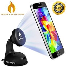b3b98c3b6f0229 #1 Rated Magnetic Phone Mount | Universal Phone Holder for Windshield &  Dashboard |. Car Cell ...